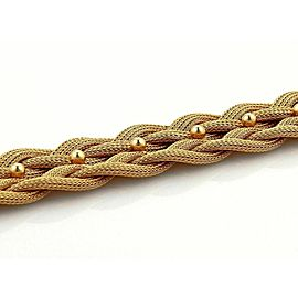 Estate 18k Rose Gold 24mm Wide Mesh Link Double Braided Bracelet Italy