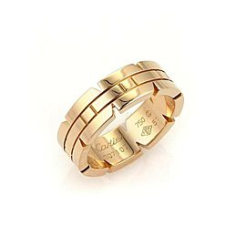 Cartier 18k Rose Gold Tank Francaise 6mm Band Ring - Size 51