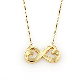 Tiffany & Co. Paloma Picasso 18k Gold Double Loving Hearts Pendant