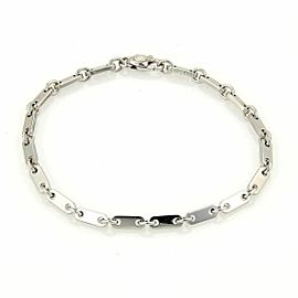 Cartier 18k White Gold Oval Bar Link Bracelet 7 Long