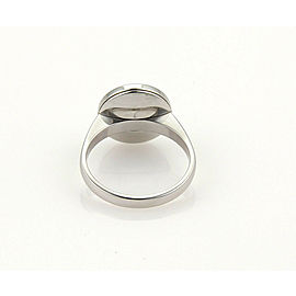 Cartier Pasha Mother Of Pearl 18k White Gold Ring Size 50 US 5 w/Cert.