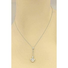Kwiat Platinum Heart Shape Diamond Heart Pendant & Chain