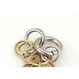 Pomellato Lucciole Diamond Circle 18k Tri Gold Link Bracelet Rt. $4,300