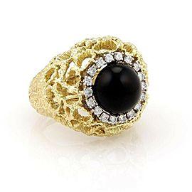 Estate Diamond 18k Yellow Gold 5 Interchangeable Gemstone Ring