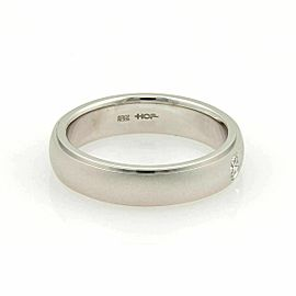 Hearts on Fire Duet Satin Diamond 18k White Gold Band Ring Size 9.5 Rt. $,1700