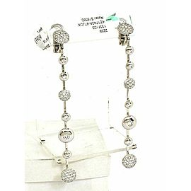 Koesia Italy 18k & Diamonds Ladies Turning discs Long Earrings