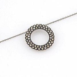 Roberto Coin 1.18ct Champagne Diamond 18k White Gold Pendant Necklace