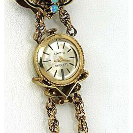 Vintage Diamond & Opal 14k Gold Hidden Watch Slide Pendant Tassel Chain Necklace