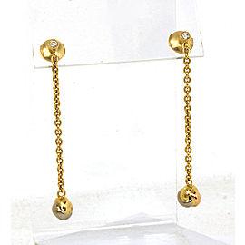 Cartier Diamonds 18k Tri-Color Gold Love Knot Long Drop Dangle Earrings