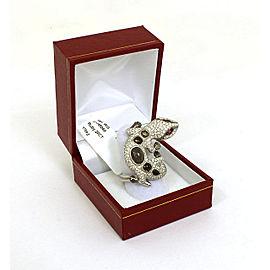 1.75ct Diamonds & Rubies Cabochon Topaz 3D Lizard Ring Size 6.25