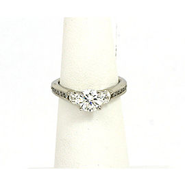 Scott Kay Platinum Diamond Accent Mounting Engagement Solitaire Ring