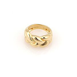 Cartier 18K Yellow Gold 10.5mm Woven Designer Ring - Size 52
