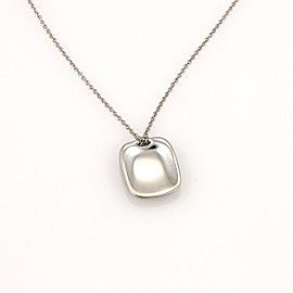 Tiffany & Co. Elsa Peretti Spain Platinum Designer ID Tag Pendant Necklace