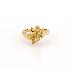 Carrera y Carrera 18K Yellow Gold Baby Angel Designer Ring