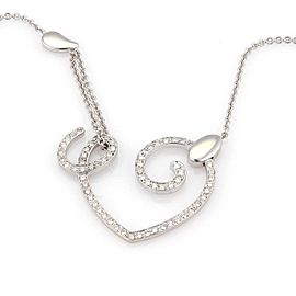 La Nouvelle Bague 18kt White Gold 1.20ct Diamond Open Heart Necklace
