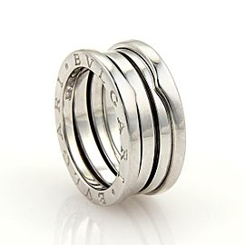Bulgari Bulgari B Zero-1 18k White Gold 9mm Wide Band Ring Size 4.0