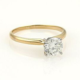 Round Cut 1.00ct J VS1 Solitaire Diamond 14k Gold Engagement Ring w/GIA Cert.