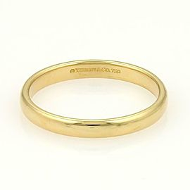 Tiffany & Co. 18k Yellow Gold 3mm Wide Plain Wedding Band Ring Size 10