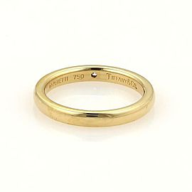 Tiffany & Co. Peretti 1 Diamond 18k Yellow Gold Wedding Band Ring Size 5.25