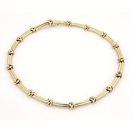 Tiffany & Co. Love Knot Groove Link 18k Yellow Gold Choker Necklace