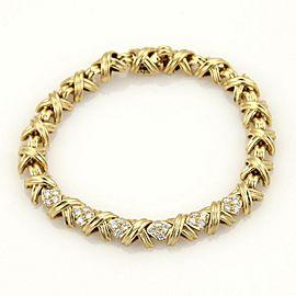 Tiffany & Co. Diamonds X Crossover 18k Yellow Gold Bracelet