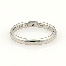 Tiffany & Co. Peretti Platinum Diamond 3mm Dome Wedding Band Ring Size 6