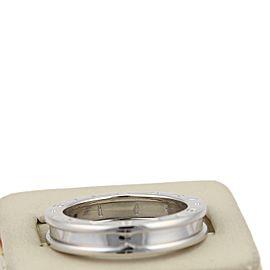 Bvlgari Bulgari B Zero-1 Single 18k White Gold 4.5mm Band Ring Size EU 57
