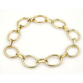 Vintage 18k Yellow Gold Larage Oval Ring Links Necklace & Bracelet Set 323 Grams