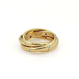 Cartier Trinity Diamond 18k Yellow Gold 2.5mm Band Ring Size EU 49-US 5