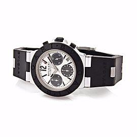 Bvlgari Diagono Chronograph Automatic Aluminum Rubber Band Wrist Watch 42mm