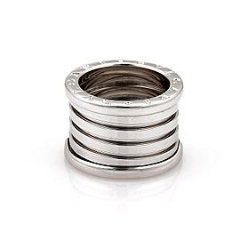 Bulgari Bulgari B Zero-1 18k White Gold 13mm Band Ring Size 5.5