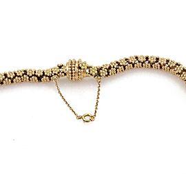 """Vintage Estate 14kt Gold Beaded Floral Design TasselsPendant Necklace 138g 19""""L"""