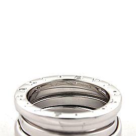 Bvlgari Bulgari B Zero-1 18k White Gold 7mm Band Ring Size 50-US 5
