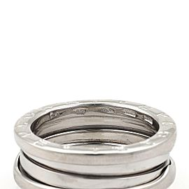 Bvlgari Bulgari B Zero-1 18k White Gold 7.5mm Band Ring Size EU 54-US 6.75