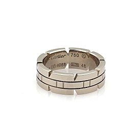 Cartier Tank Francaise 18k White Gold 6mm Band Ring Size 4.5