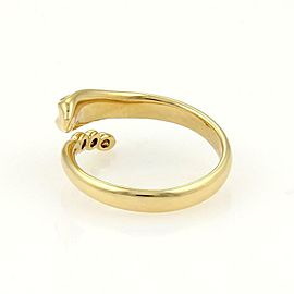Tiffany & Co. Peretti Diamond 18k Yellow Gold Snake Bypass Band Ring Size 5