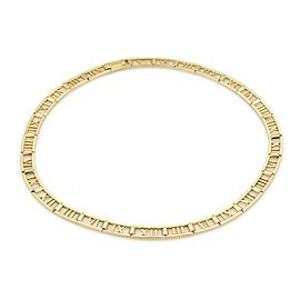 Tiffany & Co. ATLAS 18k Yellow Gold Roman Numeral Collar Necklace