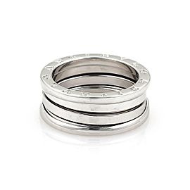 Bulgari Bulgari B Zero-1 18k White Gold 9mm Band Ring Size 7.5