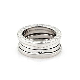 Bvlgari Bulgari B Zero-1 18k White Gold 9mm Band Ring Size EU 49-US 4.75