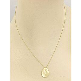 Tiffany & Co. Peretti 18k Yellow Gold Madonna Pendant & Chain Necklace