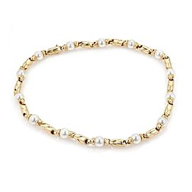 Bulgari Bulgari Pearls 18k Yellow Gold Fancy Link Necklace