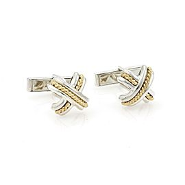 Tiffany & Co. X Crossover Sterling 18k Yellow Gold Stud Cufflinks
