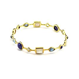Ippolita 'Midnight Rain' Rock Candy Gems 18k Yellow Gold Bangle