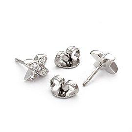 Tiffany & Co. Diamond 18k White Gold X Crossover Stud Earrings