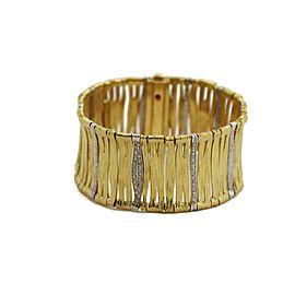 Roberto Coin 1 Carat Diamond Ruby 18k Gold Wide Elephant Skin Bracelet