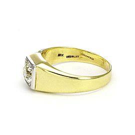 Tiffany & Co. Vintage European Cut Diamond Platinum 18k Gold Solitaire Ring
