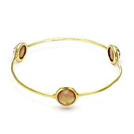 Ippolita Rock Candy Peach Quartz Gelato Gem 18k Gold Bangle Bracelet