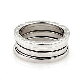 Bulgari Bulgari B Zero-1 18k White Gold 9mm Band Ring Size 8.5