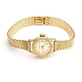 Tiffany & Co. Vintage 14k Yellow Gold Hand Wind 20mm Ladies Wrist Watch