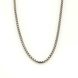 "Cartier 18k White Gold Box Link Chain 16.5"" Long"